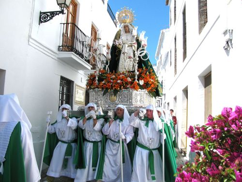 Semana Santa Andalusia white village Spain