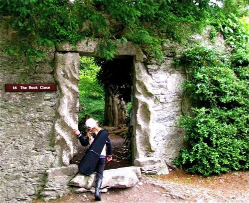 child explores Ireland Blarney stone castles, green with violin