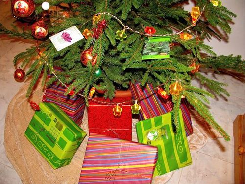 Christmas presents, gifts under tree