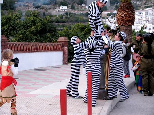 world's best Carnival, drums, Spain, Andalusia, white village, kids