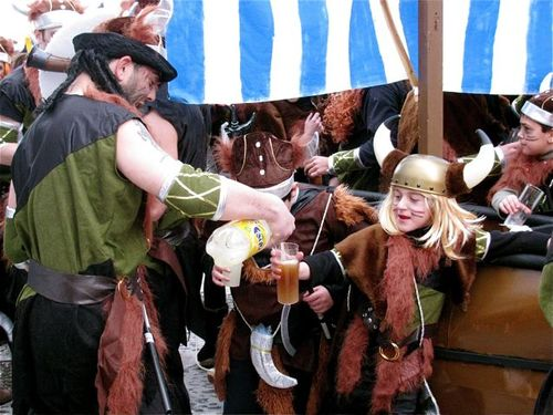 world's best Carnival, Vikings, Spain, Andalusia, white village