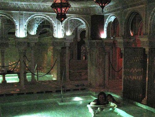 Family travel in Spain, Malaga, Costa del sol, arab baths