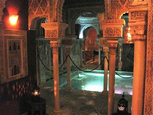 tourist travel arab baths costa del sol, spain