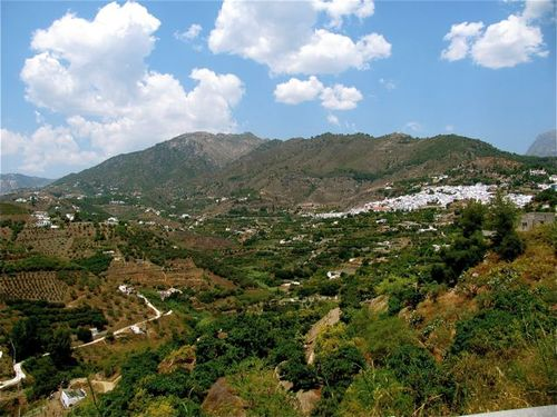 spain Andalusia landscape white village