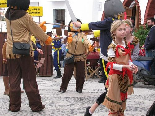 world's best Carnival, drums, Spain, Andalusia, white village