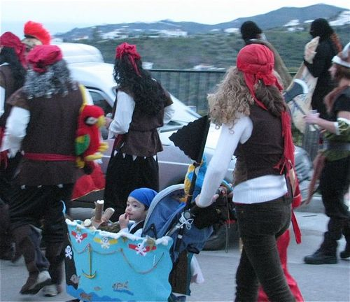world's best Carnival, baby, Spain, Andalusia, white village