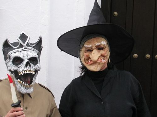 world's best Carnival, drums, Spain, Andalusia, white village, witch