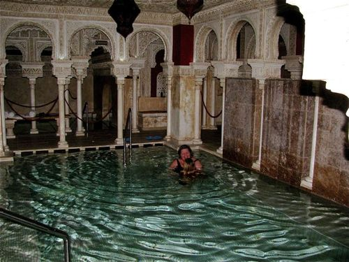 Arabic baths in Andalusia, in Malaga, benalmedena, spa
