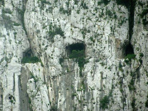 Gibraltar caves used by pre-Neanderthal humans & militaries for ions.