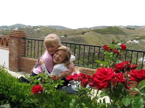 hugging girls spain, globe trotting, location independent, global nomad kids! TCK,
