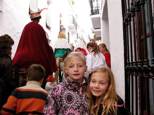 3 kings festival Spain, globe trotting, location independent, global nomad kids! TCK,