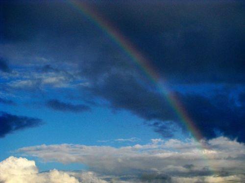 rainbow near Brittany Ferry in Roscoff France on way to Cork Ireland