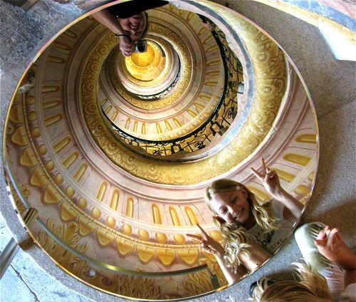 family travel fun with mirrors in Europe Melk Abbey