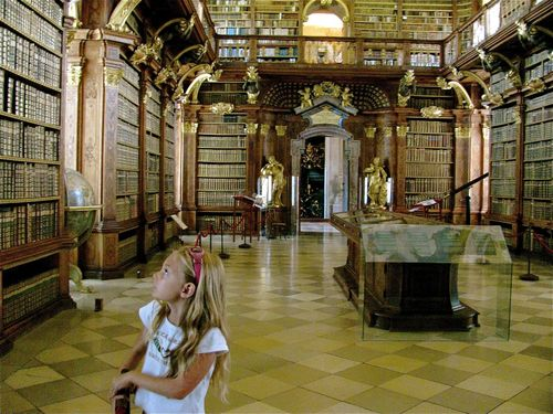 Family travel Europe museums, one of the most beautiful libraries in the world
