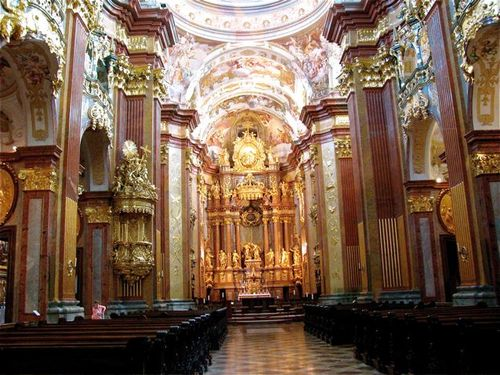 Stift Melk ( Melk Abbey) in Austria beautiful church inside