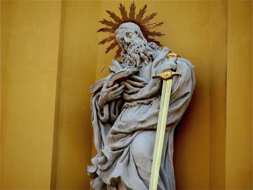 Stift Melk ( Melk Abbey) in Austria detail of statue
