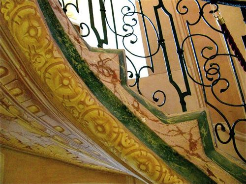 Beautiful Stair details Stift Melk ( Melk Abbey) in Austria
