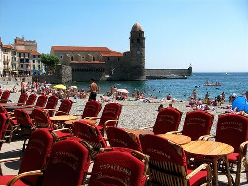 Beach at Collioure, France on Bastille Day