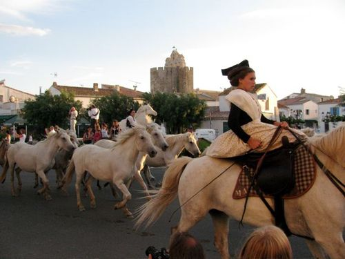 Amazing photo of Camargue, France horses & traditional dress