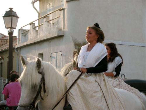 Camargue horse & sidesaddle rider Stes. Maries de la Me
