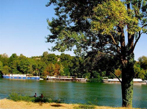 River barging in France