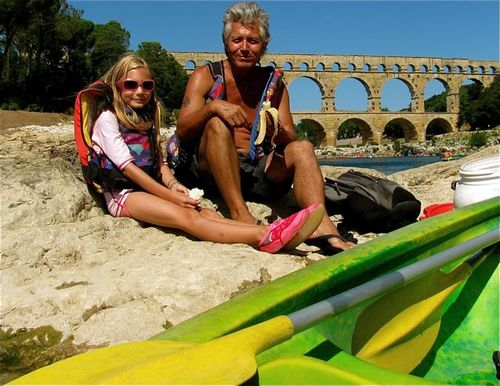 Pont du Gard park Provence France world heritage site family picnic