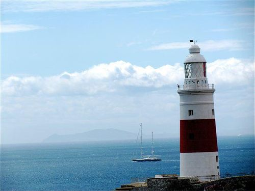 Gibraltar lighthouse africa view hercules pillar sailboat southern spain day trip tips