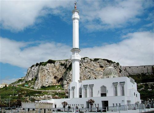 Gibraltar mosque near southern Spain, Andalusia from Moorish times