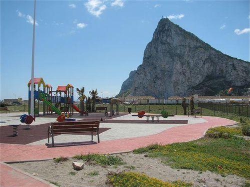 Gibraltar playground in La Linea Spain Andalusia, Costa del sol