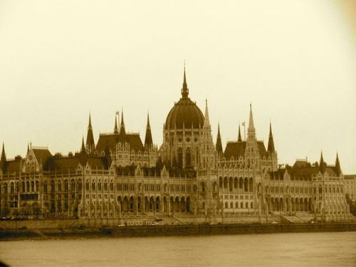 Family travel in Budapest at Hungarian Parliment Buidling