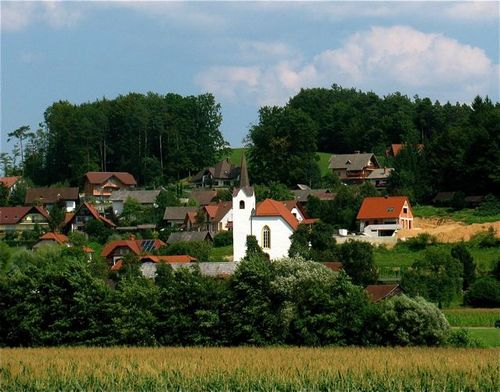 family travel Slovenia holiday country side vacation on road trip in Europe