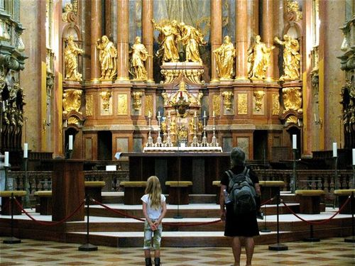 Stift Melk ( Melk Abbey) in Austria tips on family travel to avoid crowds