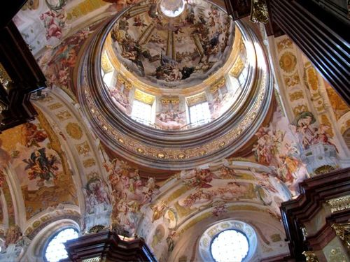 Baroque architecture Melk Abbey beautiful details and frescos