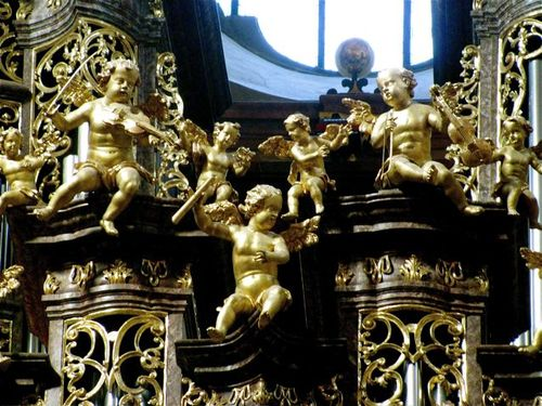 golden angels Stift Melk ( Melk Abbey) in Austria beautiful church