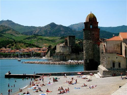 Collioure, France where Pyrenees meets the Mediterranean sea