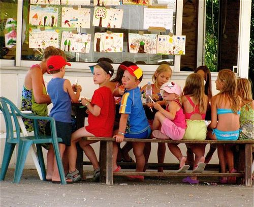 camping europe with kids france kids club fun