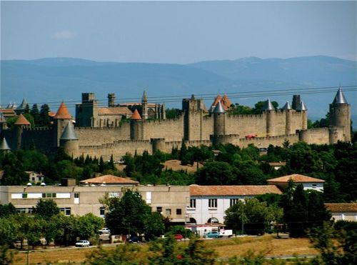 beautiful Carcassone Castle in France
