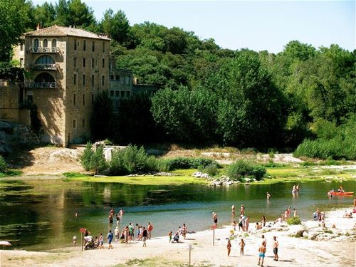 Pont du Gard park Provence France world heritage site