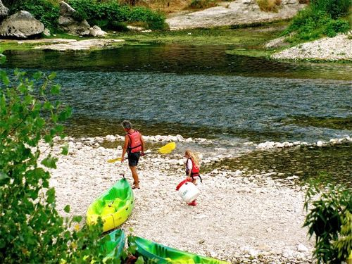 Pont du Gard park Provence France canoeing family travel