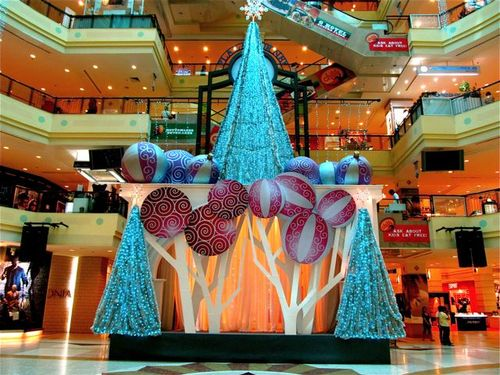 Tropical xmas Asia -Gurney Mall at Christmas time in Penang