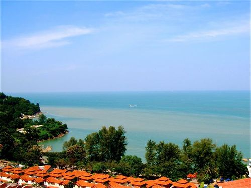 view of beach from our home in penang