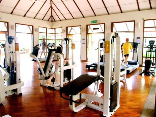 partial view workout room in penang resort
