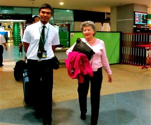 arriving at Penang airport from San Francisco