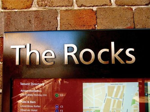 The Rocks famous area in central Sydney Australia