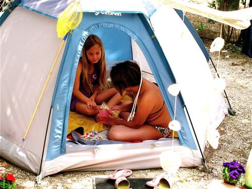 long stay means kids tent for private fun