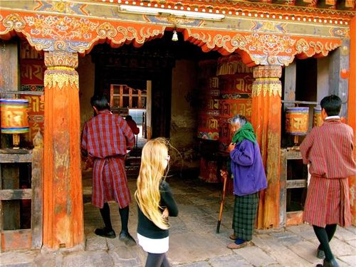 Visiting a 6th century Buddhist temple in Bhutan