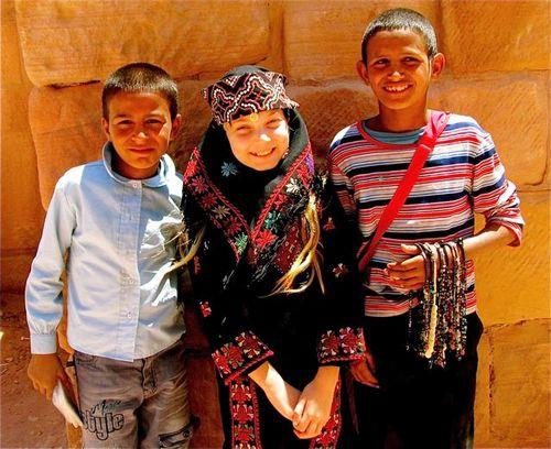 family travel means American girl meets Jordan kids
