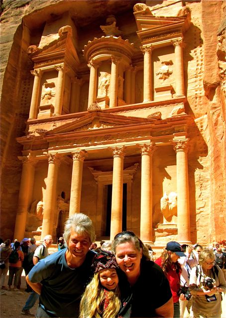 family vacation in Petra Jordan