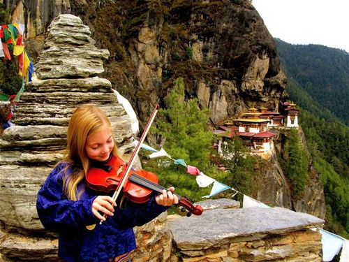 Violin around the world in Bhutan