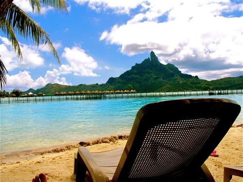 Blissing out at the Bora Bora blue lagoon